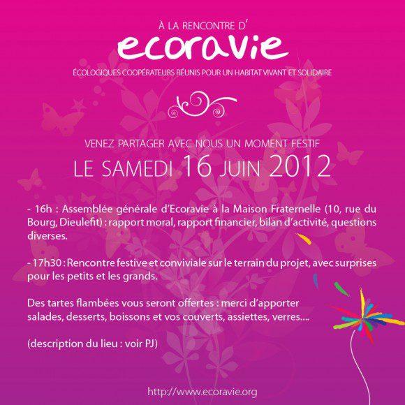 Invitation à l'AG et à la fête d'écoravie du 16 juin 2012